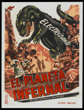 "Movie Posters:Science Fiction, King Dinosaur (Astol, 1955). Cuban Poster (27.25"" X 36""). ScienceFiction...."