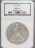 Seated Dollars: , 1853 $1 AU50 NGC. PCGS Population (18/116). Mintage: 46,110.Numismedia Wsl. Price for NGC/PCGS coin in ...