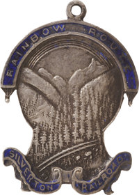 Rainbow Route, Silverton Railroad Co. Sterling Silver Pass Watch Fob, 1890