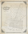 Miscellaneous:Maps, Map of Colton, California, Home of the Earp Family, circa 1880s....