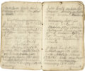 Miscellaneous:Booklets, Overland Stage and Express Agent's Log Book, Nevada, circa 1860-1863....