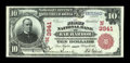 National Bank Notes:Maine, Bar Harbor, ME - $10 1902 Red Seal Fr. 615 The First NB Ch. #(N)3941. ...