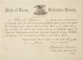 Autographs:Statesmen, Civil War Loyalty Oath: Edward T. Austin Document Signed as chiefjustice of Galveston County. One page partially printe...