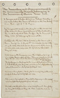 "Autographs:Statesmen, [Anson Jones] Assessment of Properties Owned by Anson Jones, theLast President of the Republic. Four pages, 8.5"" x 14"", bou..."