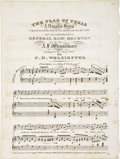 """Miscellaneous:Ephemera, [Sheet Music] The Flag of Texas, A National Song. Four pages (printed only on pages 2 and 3), 9.75"""" x 12.75"""", Philad..."""