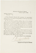 Autographs:Military Figures, Texas C.S.A. Circular: General Orders No. 10, Signed by Adjutant and Inspector General Jeremiah Y. Dashiell. One...