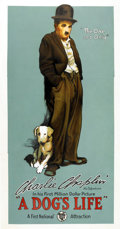 "Movie Posters:Comedy, A Dog's Life (First National, 1918). Three Sheet (41"" X 81"").. ..."
