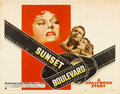"Movie Posters:Film Noir, Sunset Boulevard (Paramount, 1950). Half Sheet (22"" X 28"") Style B.. ..."