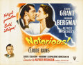 "Movie Posters:Hitchcock, Notorious (RKO, 1946). Half Sheet (22"" X 28"") Style A.. ..."