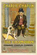 "Movie Posters:Comedy, The Champion (Essanay, 1915). One Sheet (27"" X 41"").. ..."