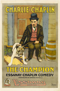 "The Champion (Essanay, 1915). One Sheet (27"" X 41"")"