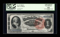 Large Size:Silver Certificates, Fr. 217 $1 1886 Silver Certificate PCGS Apparent Very Choice New 64....