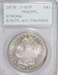 Morgan Dollars: , 1878 7/8TF $1 Strong MS62 Prooflike PCGS. PCGS Population (78/165).NGC Census: (60/159). Numismedia Wsl. Price for NGC/PC...