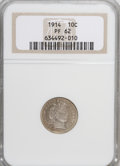 Proof Barber Dimes: , 1914 10C PR62 NGC. NGC Census: (4/134). PCGS Population (19/132).Mintage: 425. Numismedia Wsl. Price for NGC/PCGS coin in ...