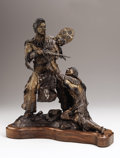 Western:20th Century, DAVID MANUEL (American, b. 1940). Battle of Big Hole, 1978. Bronze with patina. 17 x 16 x 15 inches (43.2 x 40.6 x 38.1 ...