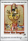 "Movie Posters:Action, Enter the Dragon (Warner Brothers, 1973). Poster (40"" X 60"").Martial Arts. Directed by Robert Clouse. Starring Bruce Lee, J..."