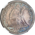 Seated Quarters, 1873-CC 25C Arrows VF25 NGC....