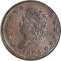 Large Cents, 1808 1C MS64 Brown PCGS. CAC....