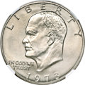 Eisenhower Dollars, 1973-S $1 --Struck on a Copper-Nickel Clad Planchet--MS67 NGC....