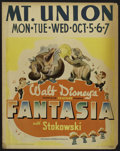 "Movie Posters:Animated, Fantasia (RKO, 1941). Jumbo Window Card (22"" X 28""). Animated...."