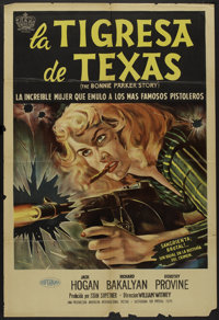 "The Bonnie Parker Story (American International, 1958). Argentinean Poster (29"" X 43""). Crime"