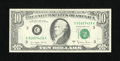 Error Notes:Inking Errors, Fr. 2024-C $10 1977A Federal Reserve Note. Choice Crisp Uncirculated.. ...