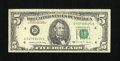 Error Notes:Miscellaneous Errors, Fr. 1979-D $5 1988 Federal Reserve Note. Fine-Very Fine.. ...