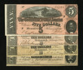 Confederate Notes:Group Lots, Four 1864 Confederate Notes.. ... (Total: 4 notes)