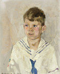 Western:20th Century, WILLIAM HERBERT DUNTON (American, 1878-1936). Portrait of Ivan H. Dunton (the artist's son), circa 1920. Oil on artist's...