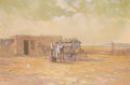 Texas:Early Texas Art - Regionalists, CARL J. SMITH (American, b. 1928). The Peddler. Oil onboard. 24 x 36 inches (61.0 x 91.4 cm). Signed lower right:Car...