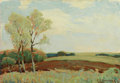 Paintings, EDWARD G. EISENLOHR (American, 1872-1961). Afternoon in May. Oil on artist's board. 10 x 14 inches (25.4 x 35.6 cm). Sig...