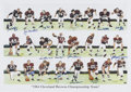 Football Collectibles:Photos, 1964 Cleveland Browns team Signed Lithograph....