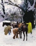 Western:20th Century, OLEG STAVROWSKY (American, b. 1927). Snow Rats. Oil on canvas. 48 x 38 inches (121.9 x 96.5 cm). Signed lower left: Ol...