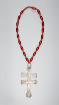 American Indian Art:Jewelry and Silverwork, A CANADIAN TRADE SILVER CROSS. Robert Cruikcshank. c. 1785...