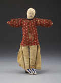 American Indian Art:Beadwork and Quillwork, A SIOUX BEADED HIDE MALE DOLL. c. 1890...