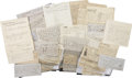 Autographs:Celebrities, Original Archive of William Waddell and William Russell of the PonyExpress and Pikes Peak Express Companies.... (Total: 110 Items)