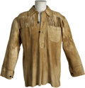 Western Expansion:Cowboy, Leather Fringe Scout Jacket. ...