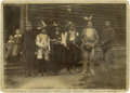 Photography:Official Photos, Photograph of Indian Police Wearing Badge and Holding Revolver, Luck Lake, Minnesota, circa 1880s....