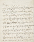 "Autographs:Military Figures, Braxton Bragg Autograph Letter (Unsigned) Regarding the Battle ofBuena Vista. Six pages, two sided, 7.75"" x 9.75"", n.p., n...."