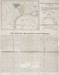 "Miscellaneous:Maps, Broadside with Map: Galveston Bay and Texas Land Company. Overall18.25"" x 23.5"", January 1835, New York. This rare broadsid..."