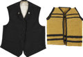 Antiques:Textiles, Pair of Early Western Type Vests.... (Total: 2 Items)