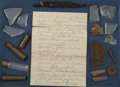 Western Expansion:Cowboy, Artifacts from the Dalton Gang Shoot-Out, Coffeyville, Kansas,1892.... (Total: 2 Items)