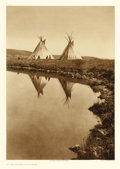 Photographs, EDWARD SHERIFF CURTIS (American, 1868-1952). At the Water's Edge, Plate 195, 1910. Portfolio photogravure on Holland Van...