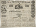 "Miscellaneous:Ephemera, Republic of Texas $500 Stock Certificate. One page, 10"" x 7.75"",June 15, 1840, Austin, issued to Edward Hall. Signed by Sto..."