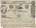 "Miscellaneous:Ephemera, Republic of Texas $100 Stock Certificate. One page, 10"" x 7.75"",September 1, 1841, Austin, issued to Abraham Morrell. With ..."