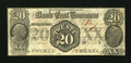 Obsoletes By State:Tennessee, Knoxville, TN- Bank of East Tennessee at Jonesboro Branch $20 Jan. 1, 1855. ...