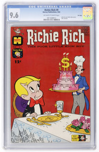 Richie Rich #9 File Copy (Harvey, 1962) CGC NM+ 9.6 Off-white to white pages