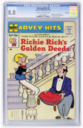 Silver Age (1956-1969):Humor, Harvey Hits #9 Richie Rich's Golden Deeds - File Copy (Harvey, 1958) CGC VF 8.0 Cream to off-white pages....