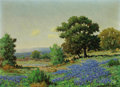 Texas:Early Texas Art - Regionalists, MORRIS WALTON LEADER (American, 1876-1966). Bluebonnets. Oilon canvas. 12-1/4 x 16-1/4 inches (31.1 x 41.3 cm). Signed ...