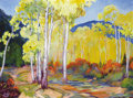 Texas, EUGENE BONFANTI THURSTON (American, 1896-1993). AspenLandscape. Oil on canvas. 30 x 40 inches (76.2 x 101.6 cm).Signed...